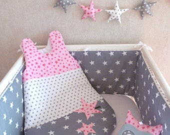 Round bed and pink PATCHWORK SleepSack