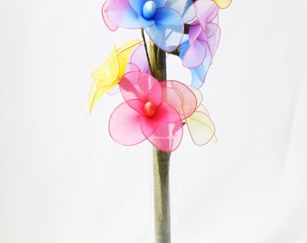 Contemporary artifical flower,Multi color flower,Nylon flower,Bouquet,Bridal bouquet,Home decor,Centre piece,Table decor, Flower arrangement