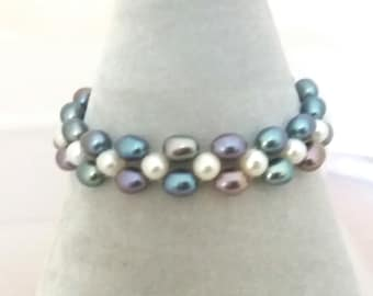 Freshwater Cultured Pearl Stretchy Bracelet