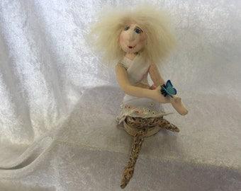 Lucinda- Cloth Pixie Doll