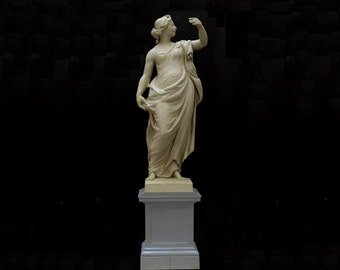 Bronze sculpture, FEMALE BOZZETTO, reconstruction, from Berlin City Palace