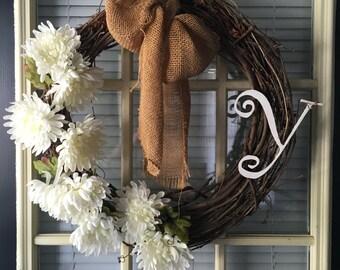 Personalized Front Door Wreath