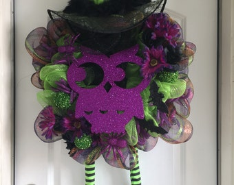 Who's There? Halloween Wreath