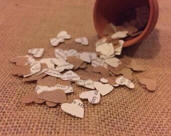 Book Paper Heart Confetti