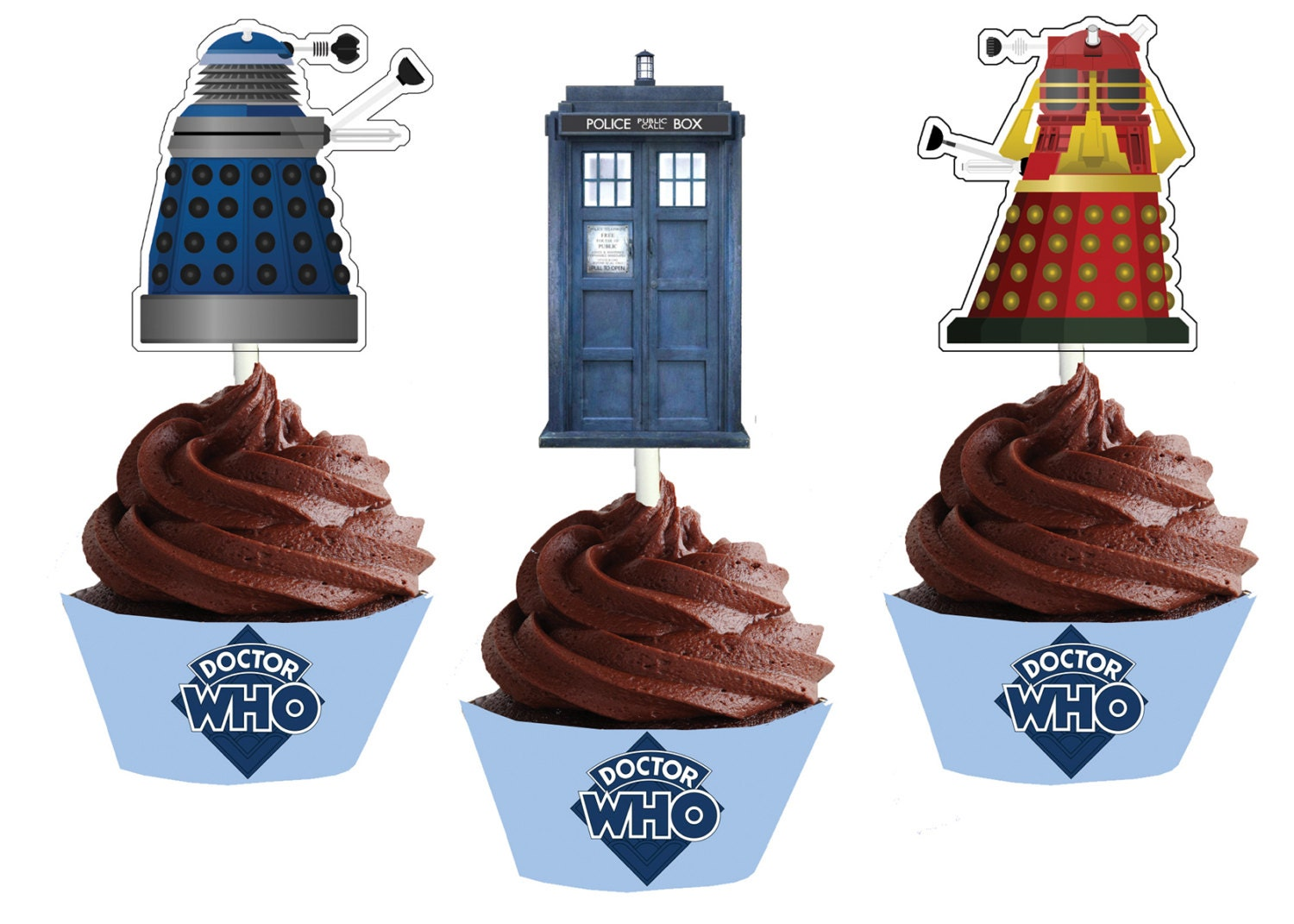 Dr Who Cake Toppers Australia