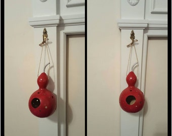 Hand painted red gourd.