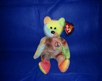 Ty Beanie Baby Bear Peace