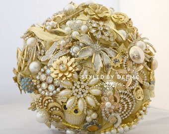 Brooch Bouquet Golden Sunrise