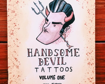 Handsome Devil Tattoos, vol 1 - Smiths/Morrissey-themed tattoo illustration collection
