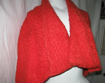 50's Red Wool Shrug, Capelet