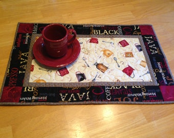 Coffee table runner quilt kit//coffee lover//kitchen gift