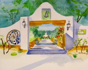 Tucson, Arizona-Original watercolor