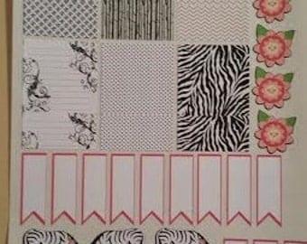 Happy Planner Zebra Planner Stickers Set of 29