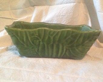 Upco Pottery Planter Jungle Green Vintage Organizer Ceramic Desk Caddy