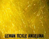 Lemon Tickle Angelina Fiber 1/2 oz - add sparkle and bling to your spinning!