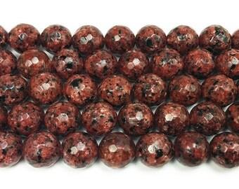 Kiwi Brown Jade Faceted Gemstone Beads