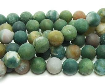 Indian Agate Matte Gemstone Beads