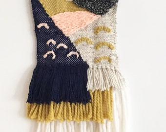 Handmade woven wall hanging: Ready to Ship