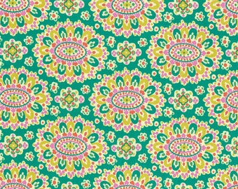 Amy Butler Eternal Sunshine Cloisonne in Field cotton quilt fabric - half yard, Amy Butler fabric