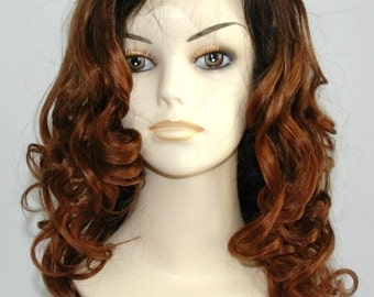 1b/#33 6A Brazilian Curly 150% Density Full Lace Wig with Baby Hair