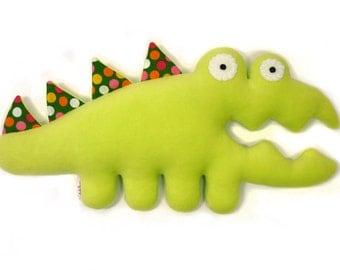 Croco- handmade plush crocodile