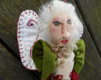 Handmade Art Doll, Cloth art doll, Fiber art doll, OOAK art doll, Doll for christmas, Ornament Doll