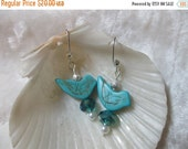 ON SALE Tweet tweet - Little Blue Bird Earrings