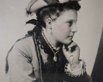 Fine Antique Tintype - Contemplative Beauty Looks Like This