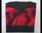 Red handbag fireworks red tote bag black tote bag black handbag