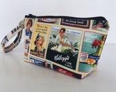 makeup bag Nostalgic Kellogg's medium size  cosmetic purse  clutch purse  zipper pouches