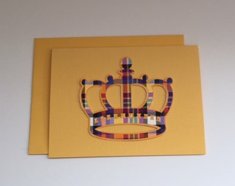 Handmade Note Cards  A CROWN for Royalty   Free Domestic Shipping