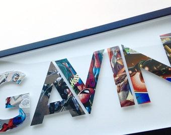5 letters- CUSTOM superhero alphabet letters
