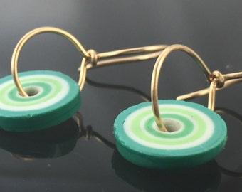 earrings- lampwork glass  beads -  gold filled