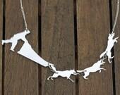Dog Sled Necklace