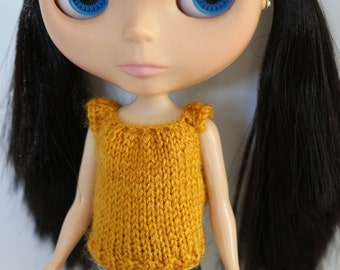 Yellow knit sweater for Blythe SALE