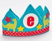 Dinosaur Crown - Birthday - Waldorf felt birthday crown