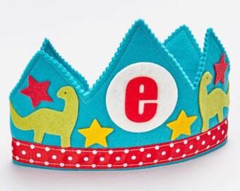 SALE Dinosaur Crown - Birthday - Waldorf felt birthday crown