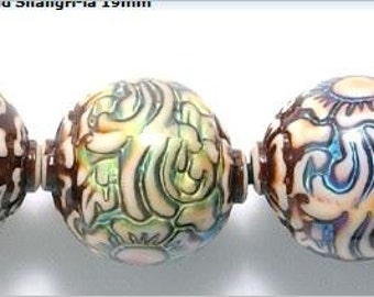 SALE! Shangri-La Mirage Mood Beads 19mm 1 piece