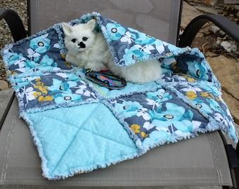 Cat Blanket, Colorado Catnip Bed, Cat Accessories, Small Dog Accessories, Pet Bed, Handmade Pet Bed, Mint Green Cat Blanket, Luxury Cat Bed