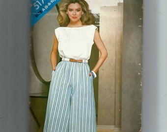 Butterick Misses' Top and  Culottes Pattern 5178