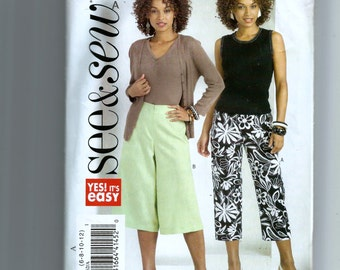 Butterick Misses' Capri Pants and Gaucho Pattern 4962