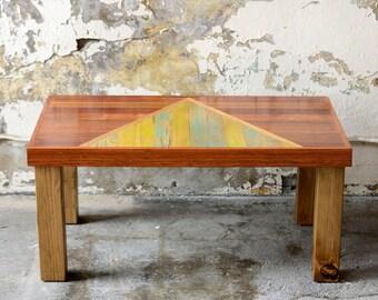 Reclaimed Wood Coffee Table | The Chalet Table | Geometric Modern Design |  Refined Rustic Oak