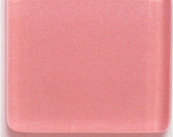 50 ct - 3/8 inch ROSE PINK Crystal Glass Mosaic Tiles
