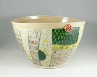 Kitchen Mixing Bowl - Large Yellow Serving Bowl - Family Size Salad Bowl - Pottery and Ceramics - Colorado Made