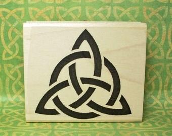 Bold Celtic Solid Triquetra Rubber Stamp Knotwork Symbol #437