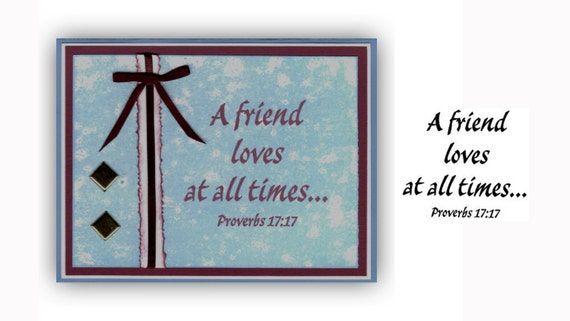 A friend loves at all times...unmounted rubber stamp No.3