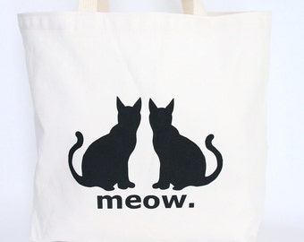 Cat's Meow Tote Bag- Recycled Cotton