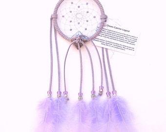Lavender Dream Catcher, Turkey Flat Feathers
