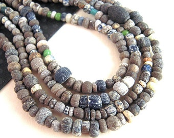 TINY Ancient African Trade Beads, 2mm, 3.5mm, Antique Glass Seed Beads, Ancient Glass, 600 Year Old Ancient Beads, Ancient Seed Beads EX02