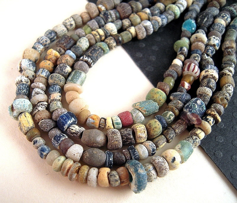 Bead Glass African Beads: TINY Glass Excavation African Trade Beads Antique Glass Seed